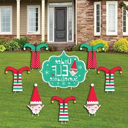 Elf Squad - Yard Sign and Outdoor Lawn Decorations - Kids El