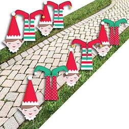 Elf Squad - Lawn Decorations - Outdoor Kids Elf Christmas an