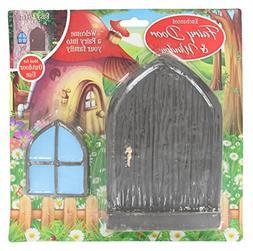 Large Enchanted Garden Polystone Fairy Tree Door & Window -B