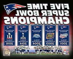 New England Patriots 5 Time Super Bowl Champions Composite P