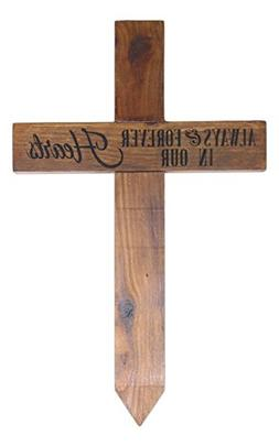 "Carson 24"" x 15"" Engraved Stained Wood Stake Memorial Wall C"