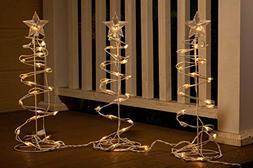 Alpine Corporation EUT142-3 Christmas Spiral Tree Decor with