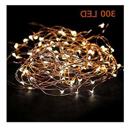 Extra Long 100foot 300led Starry String Lights Warm White on