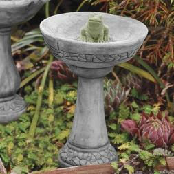 Fairy Gardening Mini Bird Bath with Frog, Colors may vary