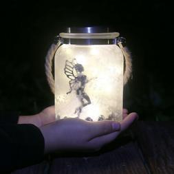 Fairy Glass Jar Solar Lantern Outdoor Garden Hanging Lights