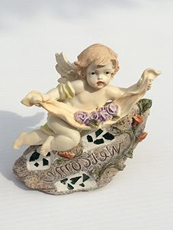Land & Sea Fairy Holding Flowers Welcome Stone #WS23
