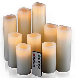 Fake Candles Set Pillar Remote Control Battery Powered LED F