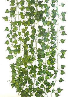 Artificial Ivy leaf Garland 84Ft-12 strands Fake Plants Flow