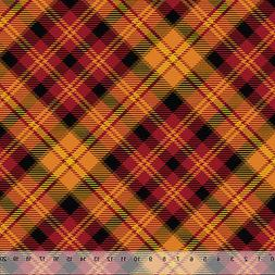 """Fall Harvest Plaid - Home Decor Fabric Polyester 62"""" W Sold"""
