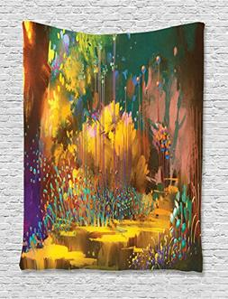Fantasy Art House Decor Tapestry by Ambesonne, Imaginary For