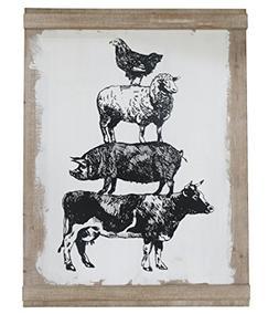 Barnyard Designs Large Farm Animal Wall Decor Sign, Farmhous