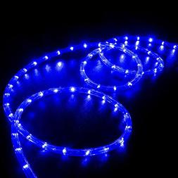 WYZworks 20' feet Blue LED Rope Lights - Flexible 2 Wire Acc