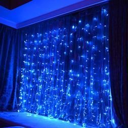 FefeLightup BLUE Led Party Lights 9.8ft9.8ft 304 LEDs Lights