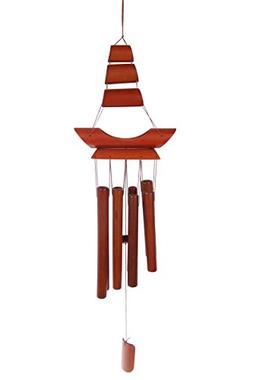 Juvale Feng Shui Bamboo Wind Bell - Bamboo Wind Chime - Brow