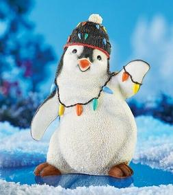 Festive Holiday Penguin Yard Statue Christmas Winter Outdoor