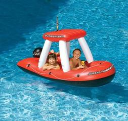 "Fireboat Squirter Inflatable Pool Toy, 33H x 74.5W x 36""L, R"