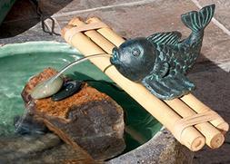 "18"" Fish Figurine on Bamboo & Pump Kit"