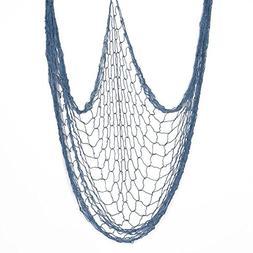 "CHICIEVE Blue Decorative Fish Net 39""x78"" Natural Fish Net P"