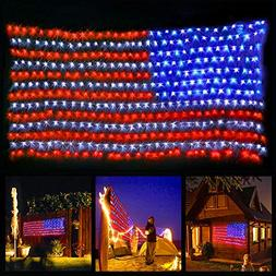 XTF2015 Led Flag Net Lights of The United States, Waterproof