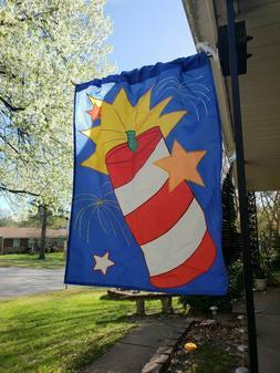 Flag Outdoor Garden Decor Home Yard Spring Summer Fourth of
