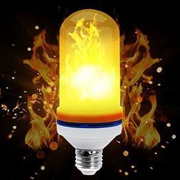 Flame Bulb,Loomin E26 LED Flame Effect Fire Light Bulbs for