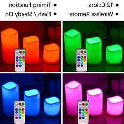 Flameless LED Candle,Yesee LED Candle Battery Operated Pilla