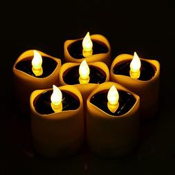 Flameless Candle Sunsbell Flickering Candles 6pcs Real Wax P