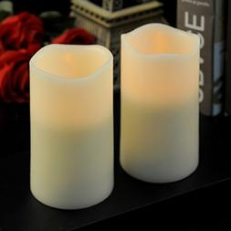 """LED Flameless Candles 2 Pieces 3""""x5'', Battery Operated"""