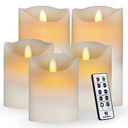 comenzar Flameless, Led Realistic Moving Set of 5 Flickering