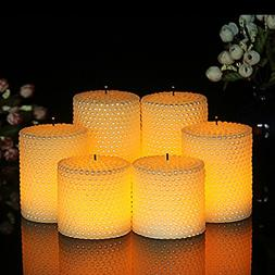 Flameless Flickering LED Candles with 10-Key Remote Control