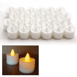 24Pcs Flameless Flickering LED Candles Tea Light Battery Ope