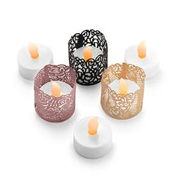 Frux Home and Yard Flameless LED Tea Light Candles - Bonus D