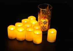 Candle Choice Set of 24 Premium Flameless Votive Candles, Ba