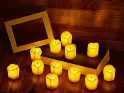 LED Flameless Votive Candles, Realistic Look of Melted Wax,