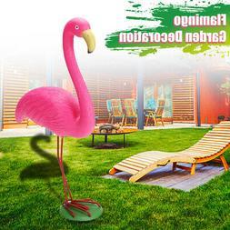 Flamingo Ornament Garden Resin Metal Outdoor Lawn Yard Light