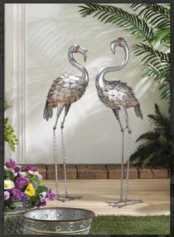 Flamingo Outdoor Decor Yard Art Lawn Ornament Bird Statue Fi