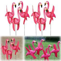 Flamingo Yard Decor Outdoor Ornament Lot Lawn Mini Pink Bird