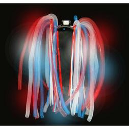 Flashing Patriotic Noodle Headband with LED Lights for 4th o