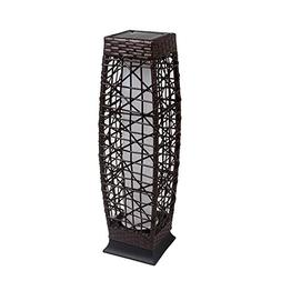 Outdoor Floor Lamp Solar Powered LED Light Decorative Rattan