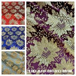 """Floral Brocade Jacquard Fabric,Brocade Craft Fabric 60"""" Leng"""
