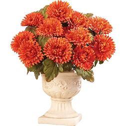 Floral Mums Artificial Maintenance-Free Flower Bush - Set of