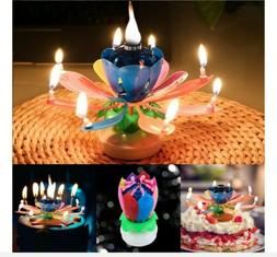 Flower Birthday Musical Lotus 2pc Rotating Magic Floral Cand