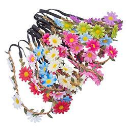 Flower Crown Bohemia Headband Accessory - AWAYTR 6PC Sunflow