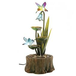 Flower Fountain, Resin Tabletop Water Fountains For Outdoor