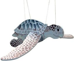 Flying Sea Turtle Wood Windchime or Mobile