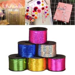 Foil Balloon Curling Glitter Ribbon 5mm 100 yard Wedding Bir
