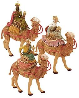 Fontanini by Roman Three Kings on Camels Set 3-Piece 5-Inch