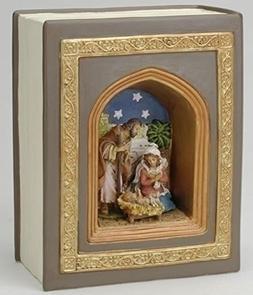 Fontanini Holy Family Nativity Book Style Musical #56305