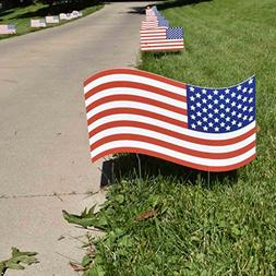 Fourth of July - Flag Pathway Markers - Corrugated Plastic F
