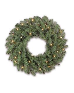 Balsam Hill Fraser Fir Prelit Artificial Christmas Wreath, 2